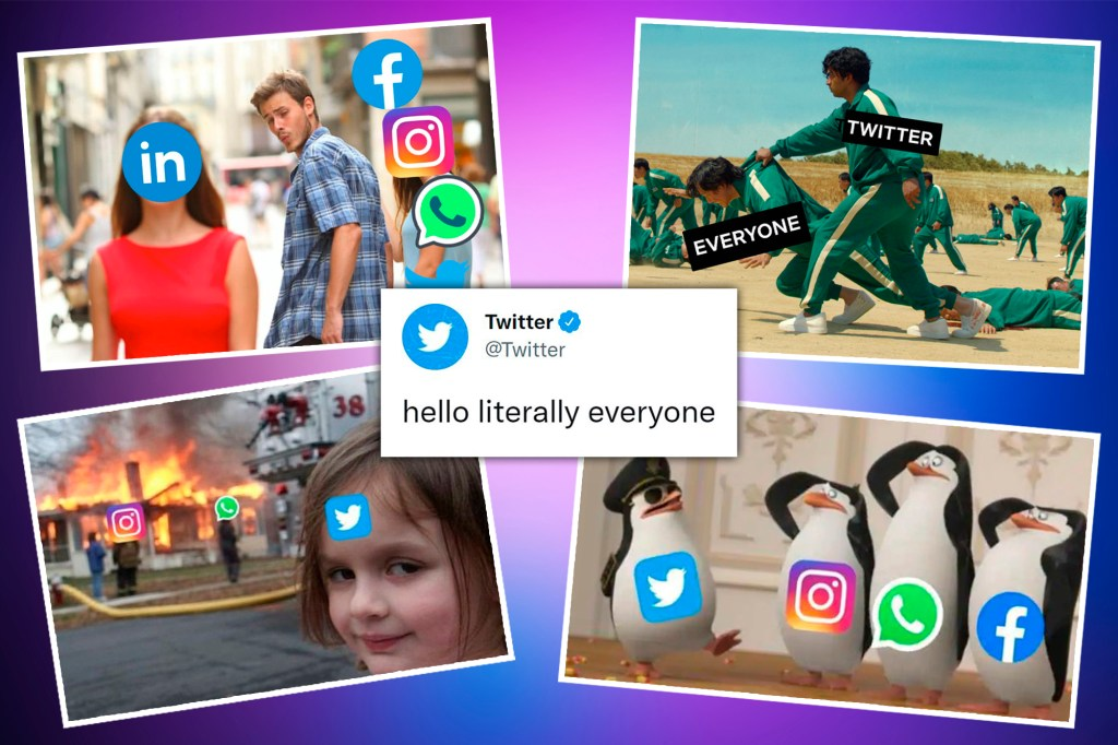 After Facebook, Instagram and WhatsApp went down, critics converged on Twitter to ridicule the crash with quirky memes.