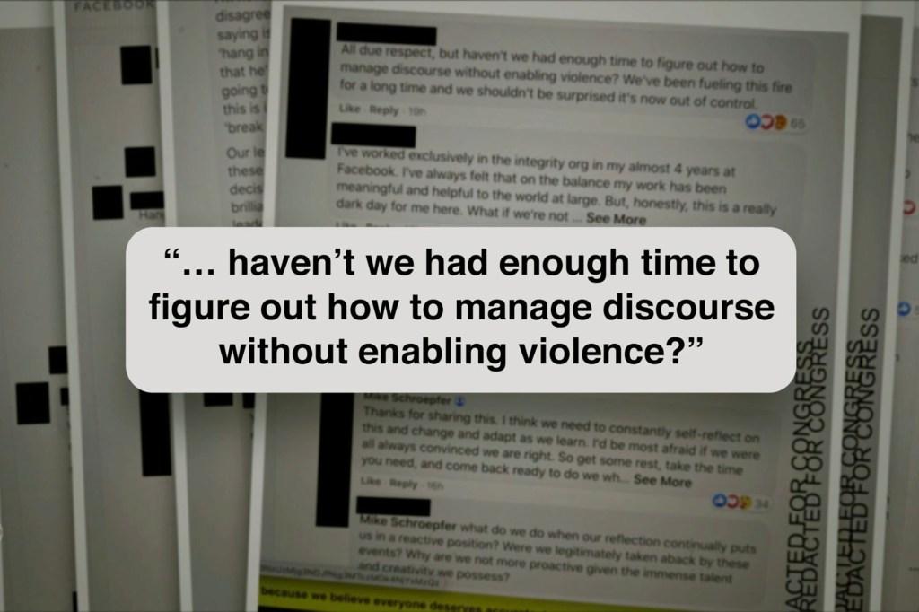 Document leaked by Frances Haugen
