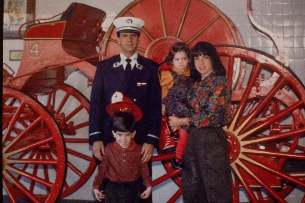 Nagliere with his wife Maria, son John and daughter Jenna in 1991.