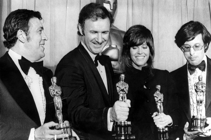 1971: Producer PHILIP D'ANTONI [Best Picture, THE FRENCH CONNECTION], GENE HACKMAN [Best Actor, FRENCH CONNECTION], JANE FONDA [Best Actress, KLUTE], WILLIAM FRIEDKIN [Best Director, THE FRENCH CONNECTION], 4/10/72