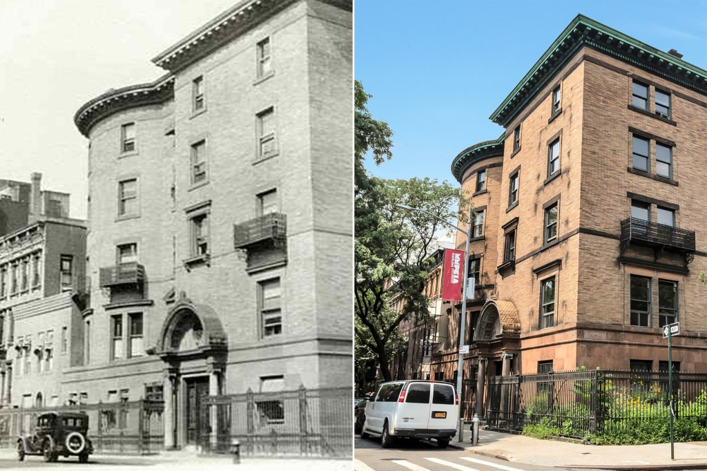 A side by side of the building from the 1800s and how it appears now.
