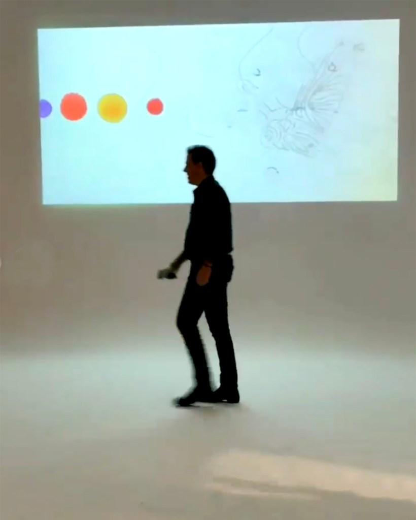 Hunter Biden in the art gallery.