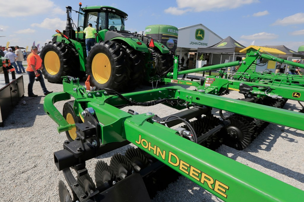 Due to the strike, John Deere's stock has fallen about 20 percent to $330 per share after hitting an all-time high of $400 per share.