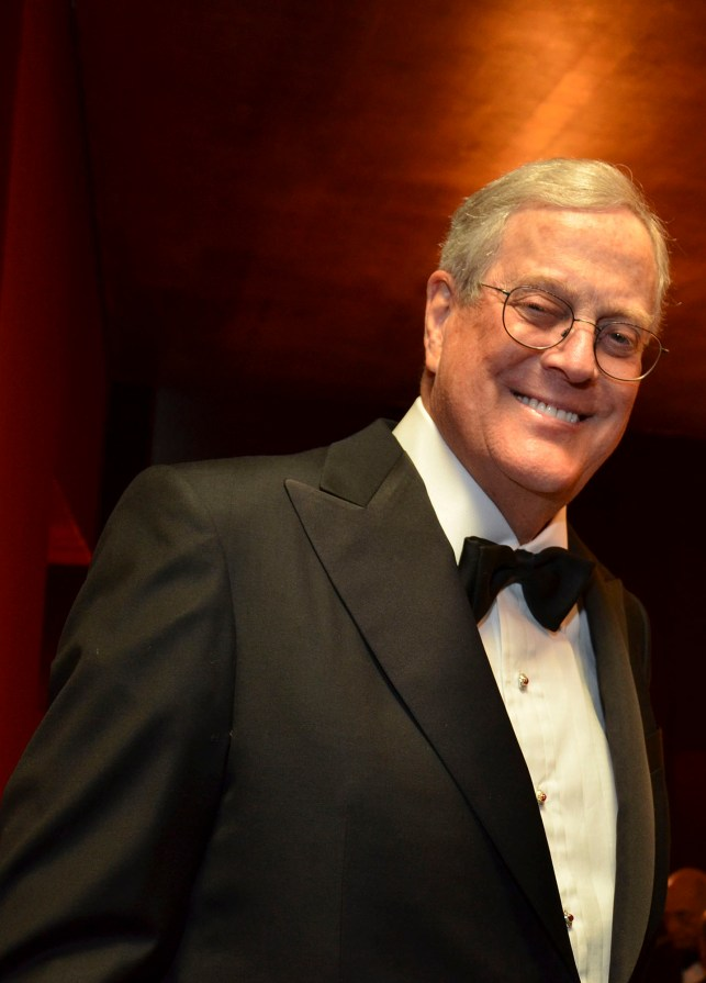 Racine claimed that Julia Koch did not want a tube to feed her husband, David Koch.