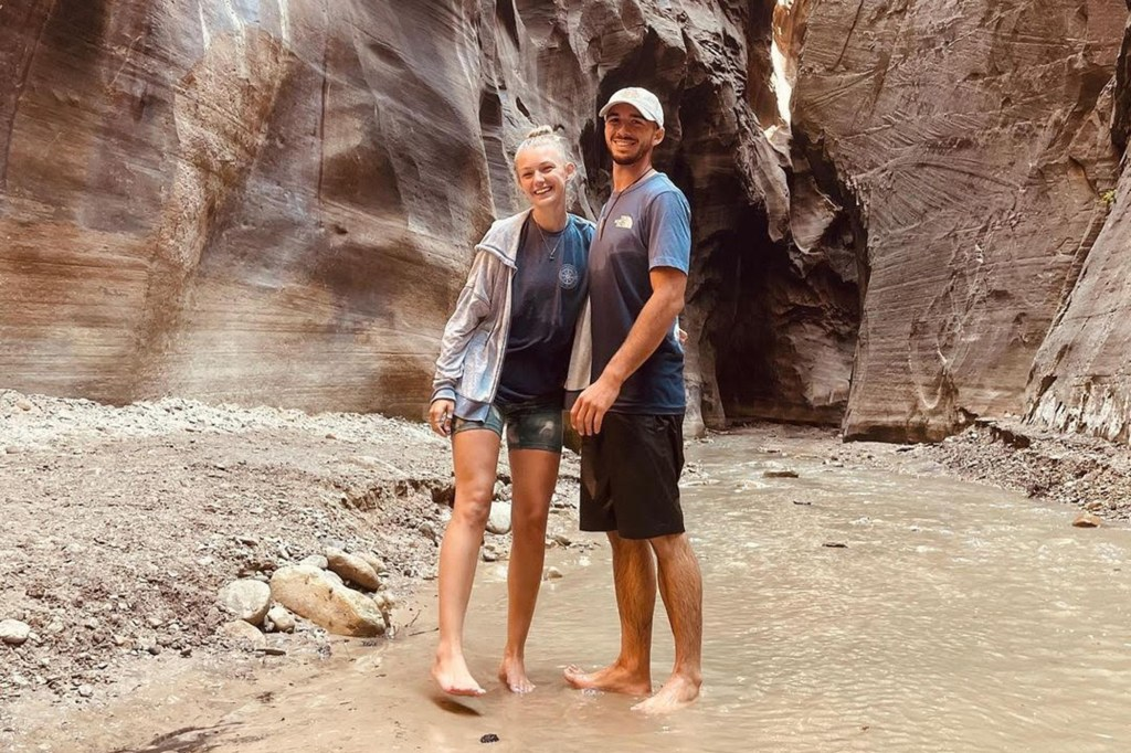 A 22-year-old Long Island woman has gone missing under mysterious circumstances during a cross-country road trip with her boyfriend