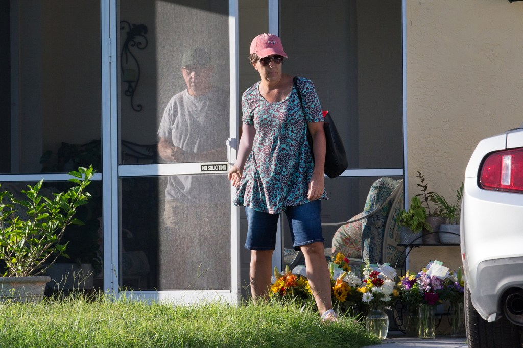 Christopher and Roberta Laundrie, parents of Brian Laundrie leaving their house Thursday morning around 8:30.