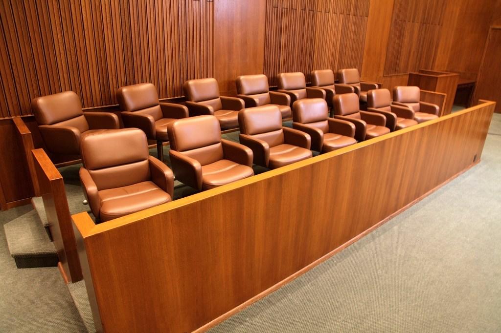 Jury box.