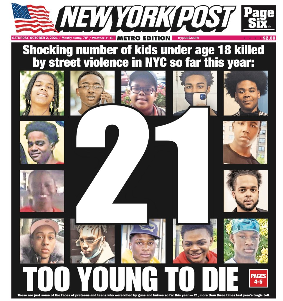 New York Post cover for Oct. 2, 2021.