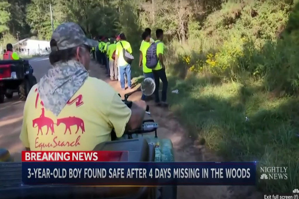 The Texas EquuSearch team look for Christopher Ramirez, soon to be found alive in the woods after he disappeared.