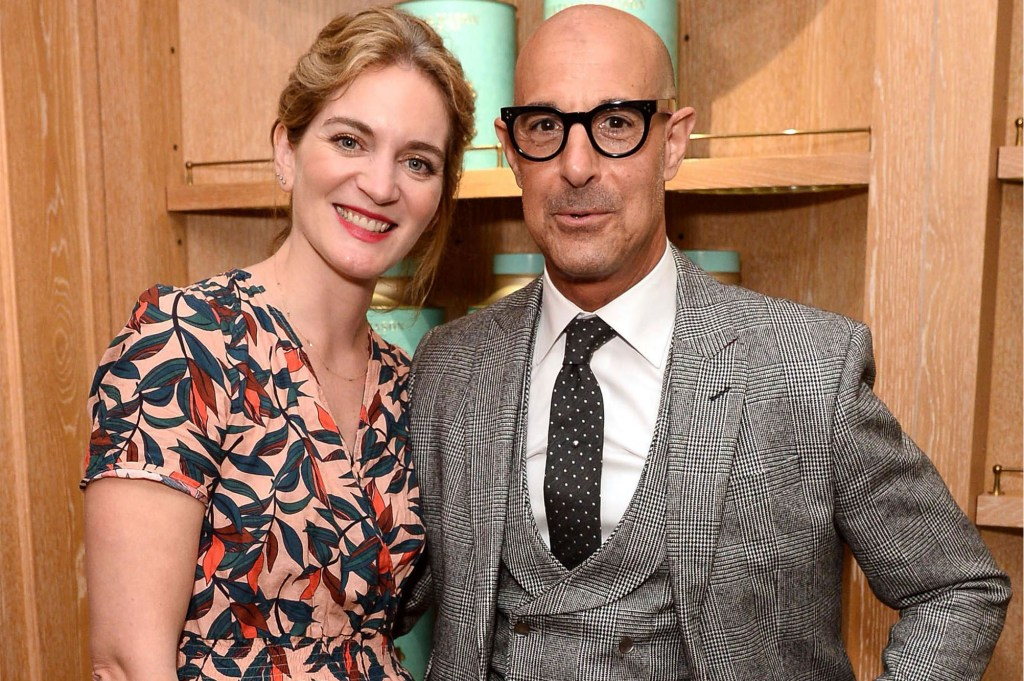 Felicity Blunt and Stanley Tucci at the Fortnum and Mason Food and Drink Awards in London.