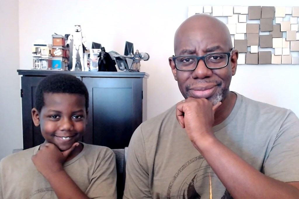 """""""We talked about 'Star Wars' all the time,"""" the elder Yarde said of his and his son's mutual franchise fandom. """"We just needed some encouragement. 'Star Wars' has done that for me throughout my years and it's doing that for us now as a family."""""""