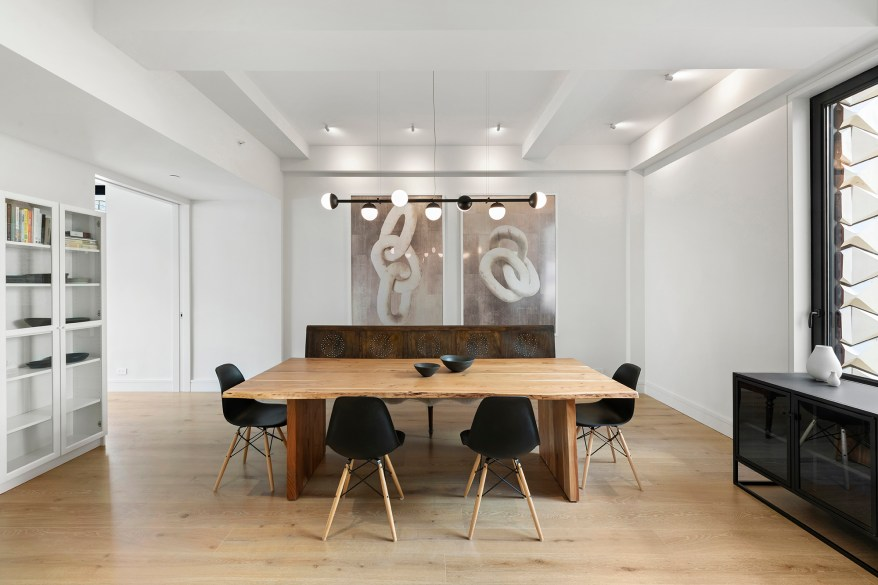 A second dining table is pictured.