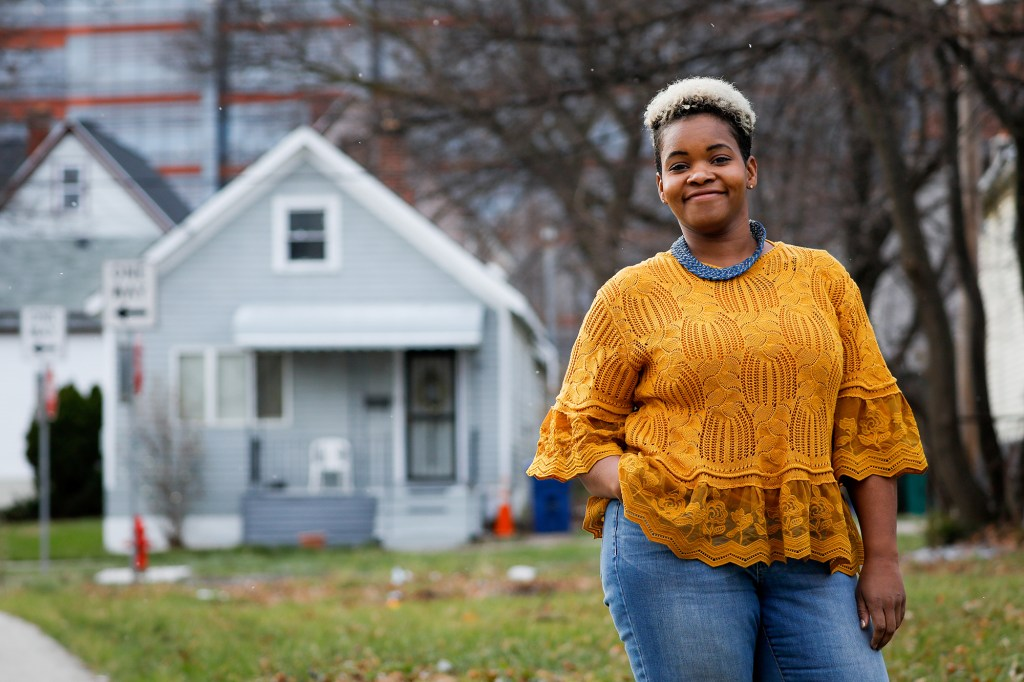 Activist and Democratic-socialist India Walton, who beat Buffalo Mayor Bryon Brown in the June 2021 primary election.