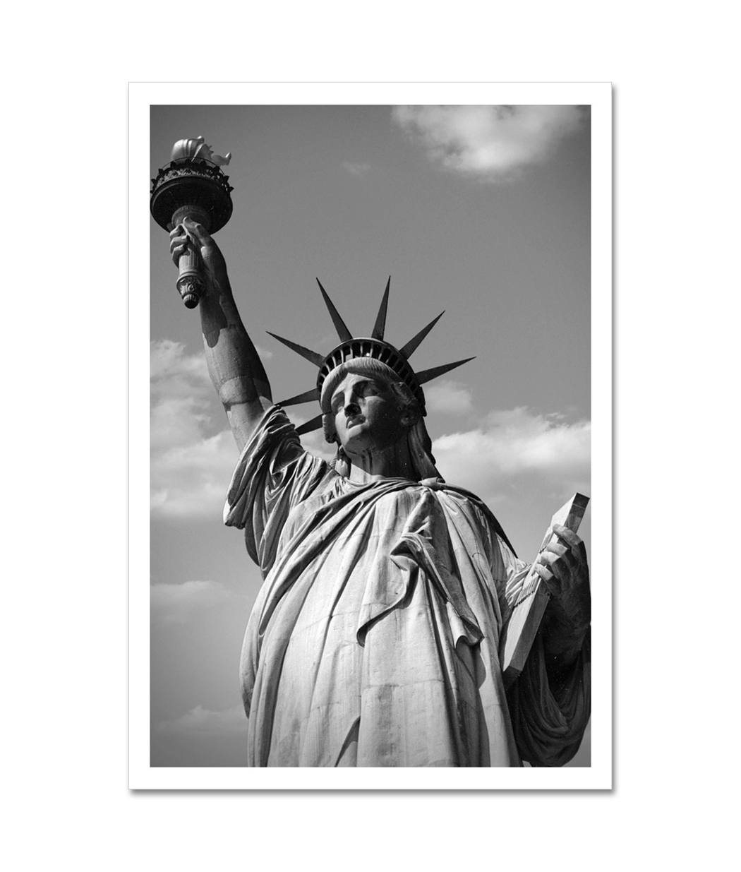 Statue Of Liberty Close Up Black And White New York Art