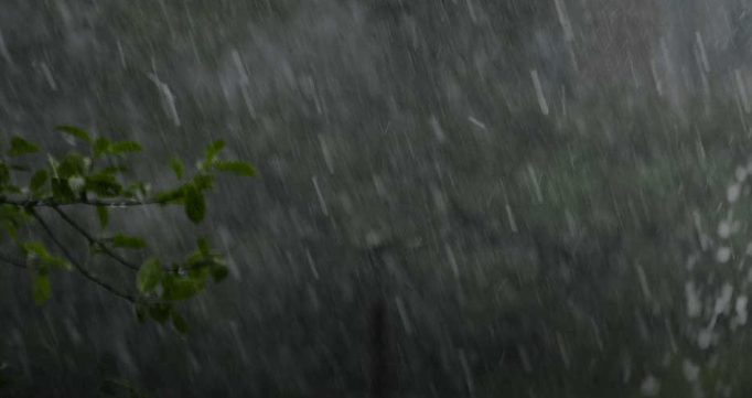 A picture of rain falling