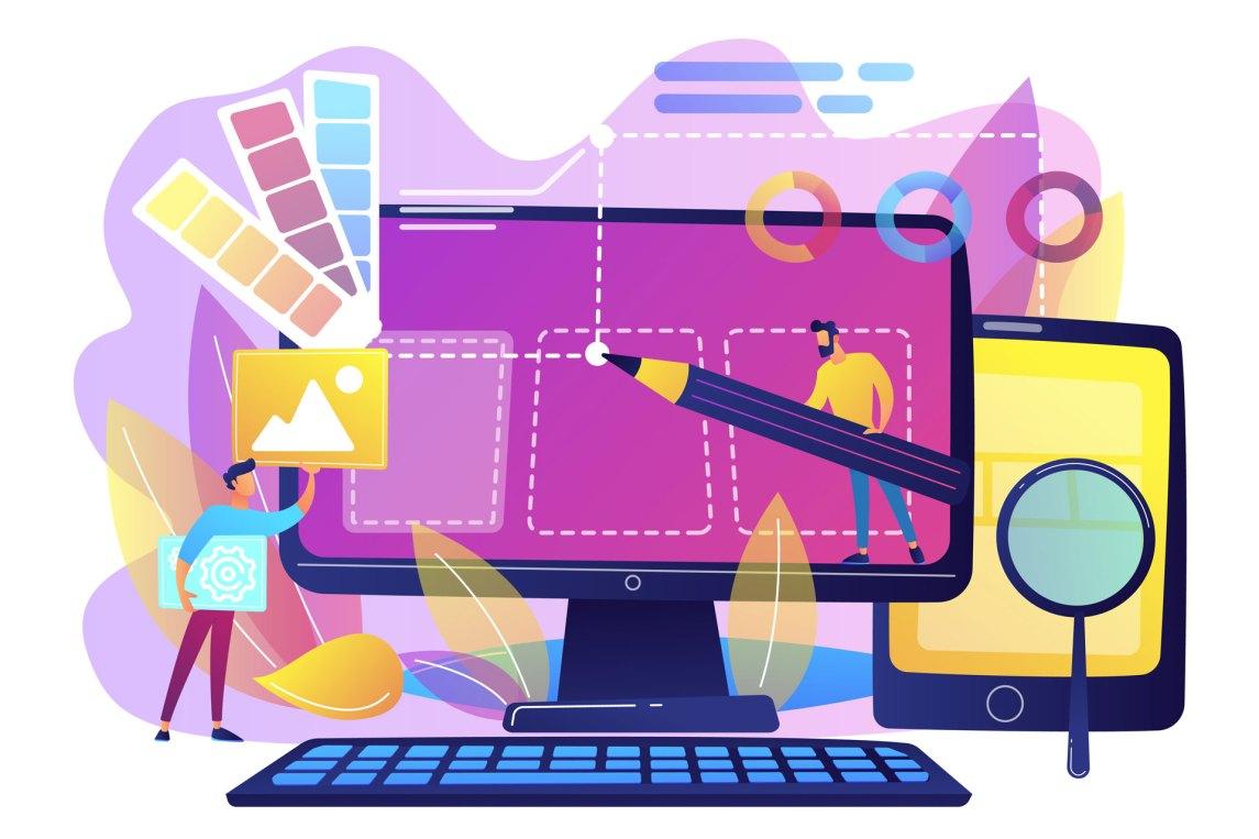 Web design digitally illustrated