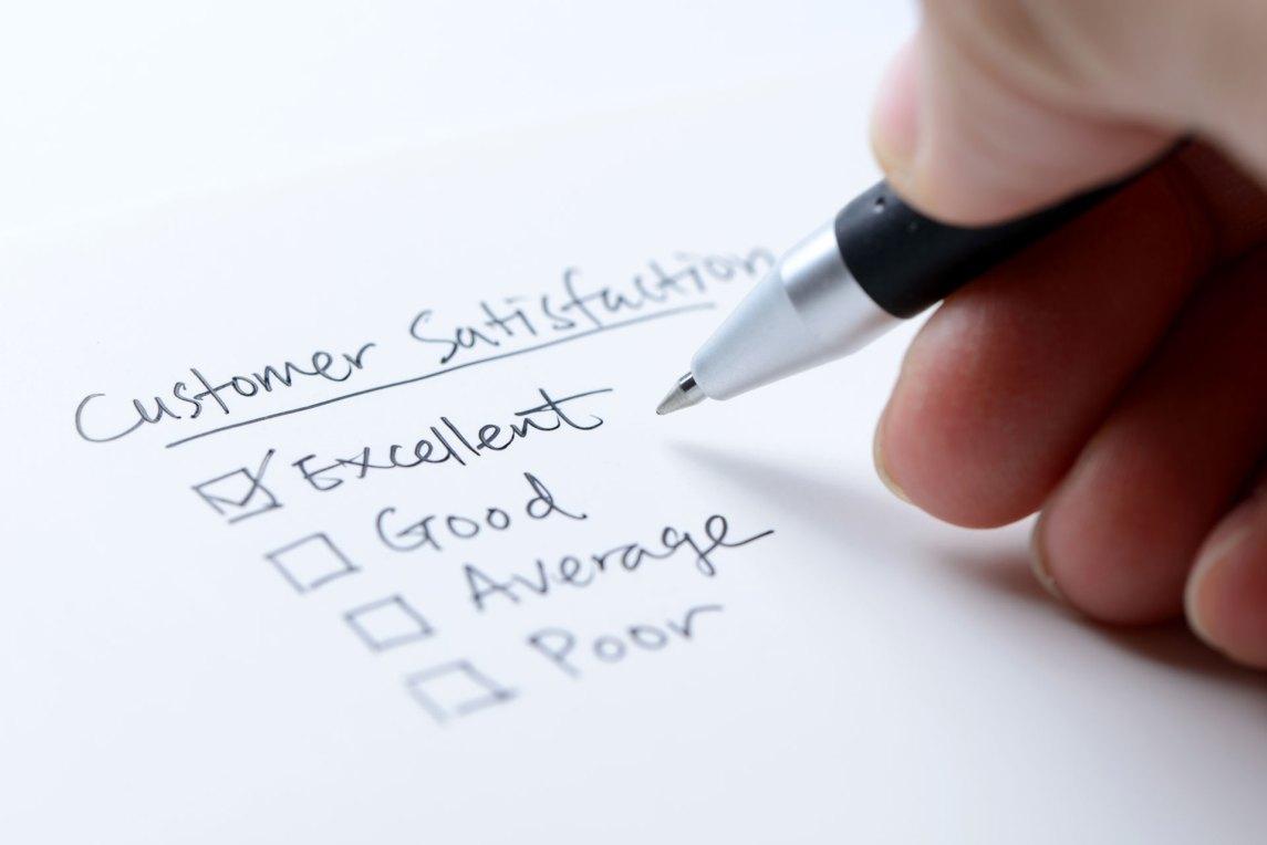 customer satisfaction survey being taken