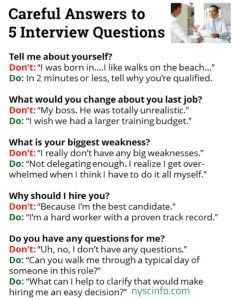 10 tough interview questions and answers