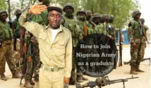 How to join Nigerian Army