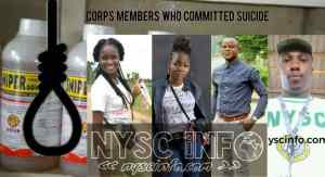Nysc members who committed suicide