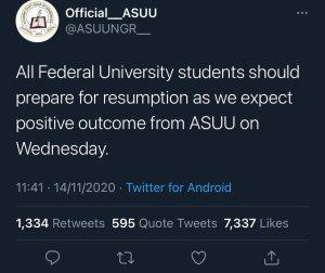 ASUU resumption