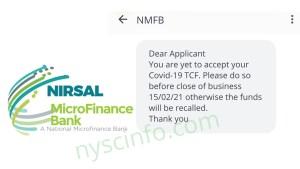 CBN COVID19 Loan: Check your TCF loan application status