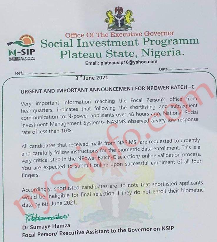 Deadline For Npower Fingerprint Enrolment