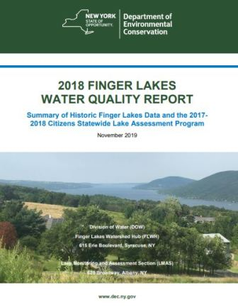 DEC Releases 2018 Finger Lakes Water Quality Report