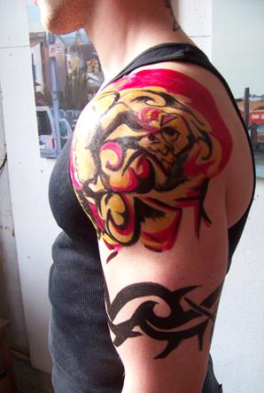 Left Arm Band Tattoo