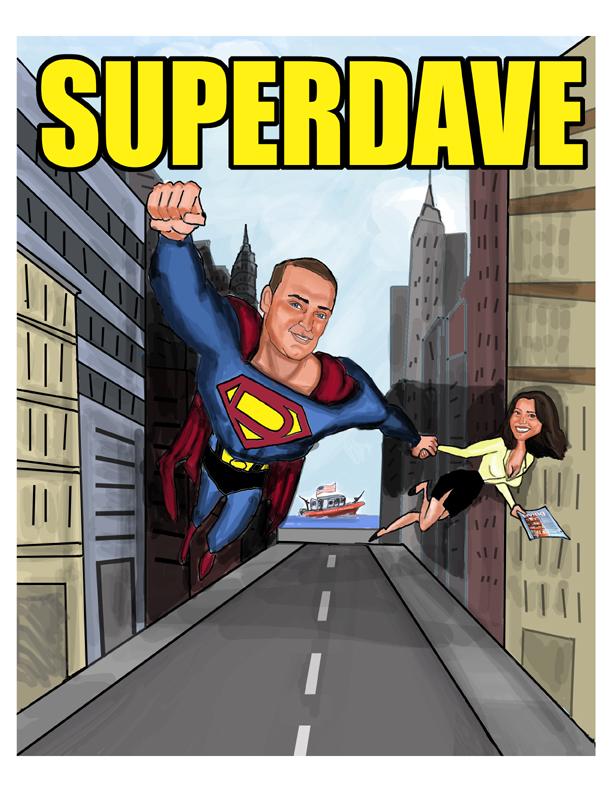 Custom Caricature Comic Book Cover