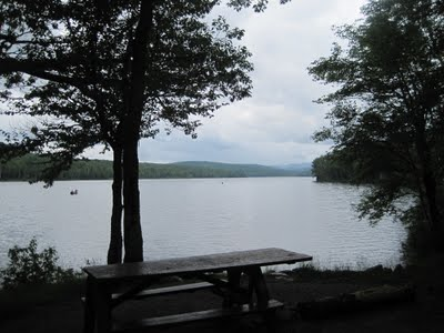 View of Thirteenth Lake from NY state campsite