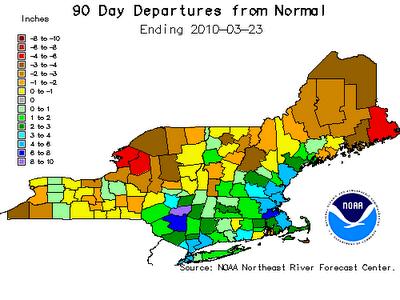Winter 2009-2010 Departure from Normal Precipitation