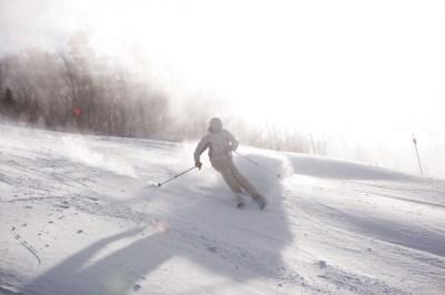 Incredible Piles of Hunter Mountain Snowmaking.