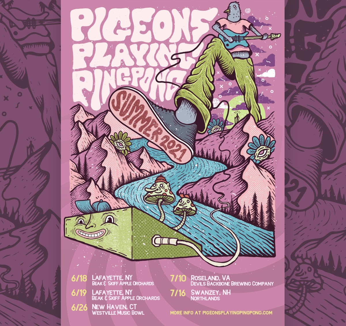 pigeons playing ping pong announce five
