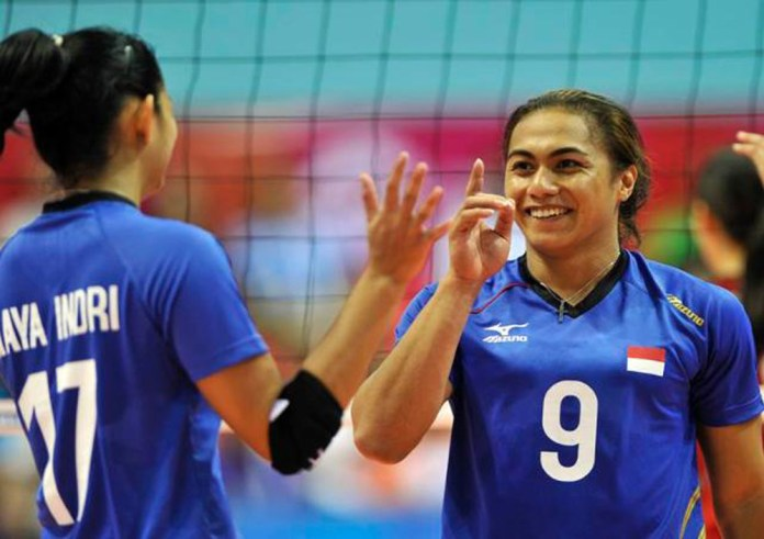 Aprilia S. Manganang, sala satu angota timnas voli Indonesia untuk Sea Games 2017