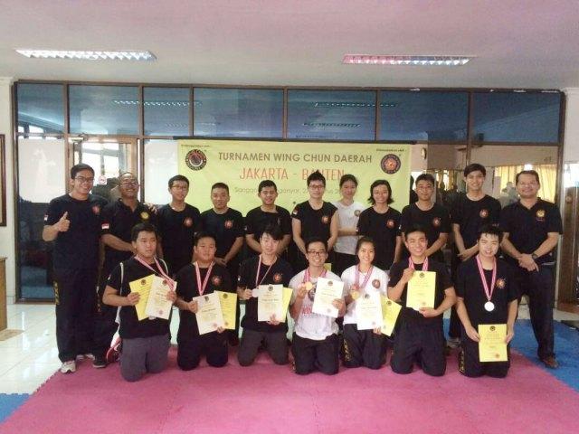 Clarissa saat mengikuti turnamen Wing Chun daerah Jakarta - Banten