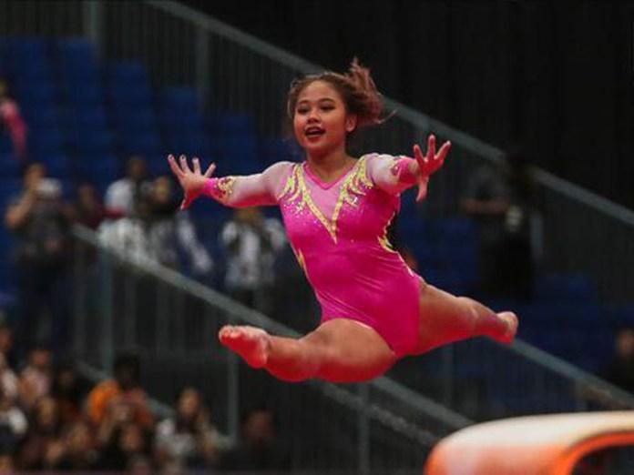 Pesenam putri Rifda Irfanaluthfi meraih perunggu dari nomor senam lantai dan medali emas di nomor balok keseimbangan.