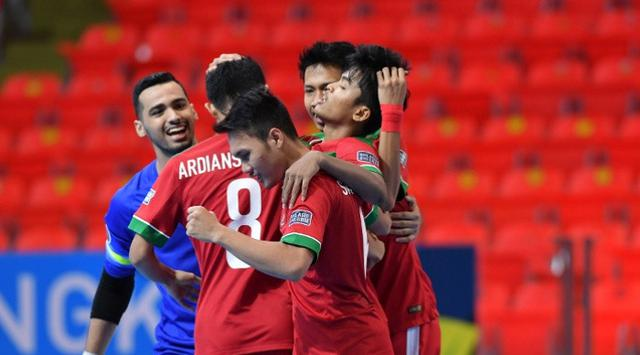 Foto: Bola.com. Tim Futsal Putra Indonesia di SEA Games 2017