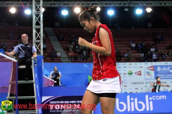 Chairunnisa pemain tunggal putri Indonesia yang berlaga di ajang BWF World Junior Championships Foto: http://badmintonindonesia.org/