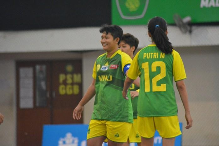 Tim Futsal UNJ Putri berhasil menang telak atas Unpar dengan hasil akhir 9-0.