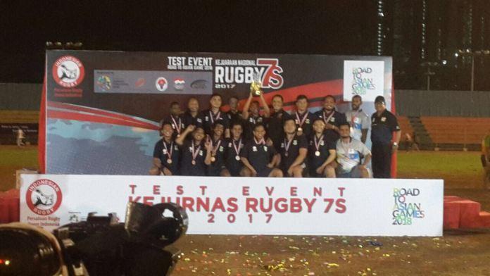 Tim Rugby Banten berhasil meraih peringkat ketiga di ajang Kejurnas Rugby beberapa waktu lalu.