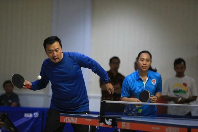 Menpora ingin Kejuaraan Tenis Meja libatkan pelajar. Foto: Kemenpora