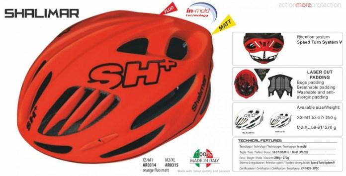 Helm SH+ Shalimar 2017 yang menjadi salah satu prototype perlengkapan bagi Timnas sepeda Indonesia di Asian Games 2018. (ciclimattio.it)