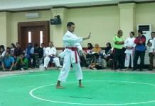 Indra Lukman juara kata perorangan putra O2SN SMK DKI Jakarta. (Adt/NYSN)