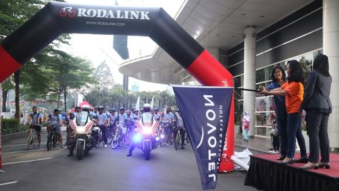 Komunitas dan pecinta sepeda meriahkan event bike 4round The City Novotel Tangerang. (dok)
