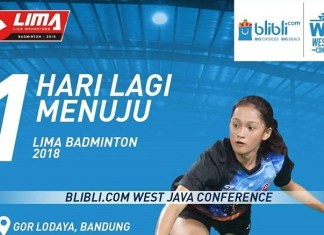 LIMA Badminton: Blibli.com West Java Conference 2018 siap berputar mulai 8 Maret. (facebook.com)