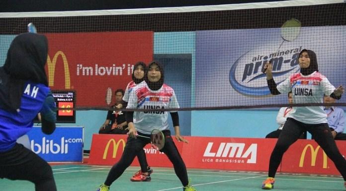 Putri UINSA Menjadi Wakil Surabaya Subconference di LIMA Badminton Nationals 2018. (LIMA)