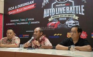 Industri otomotif beri dukungan untuk atlet indonesia yang tampil di Asian Games 2018, dengan menggelar evet Kontes modifikasi mobil MB Tech Auto Live Battle 2018. (kemenpora)