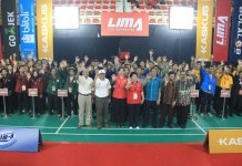 Grha Institut Pertanian Stiper (Instiper) Yogyakarta, menjadi venue pertandingan LIMA Badminton CJYC Yogyakarta 2018. (LIMA)
