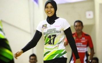 Nandita Ayu Salsabila (Jakarta Pertamina Energi), peman terbaik Proliga 2018 yang terpilh masuk dalam skuat seleksi timnas voli putri Asian Games 2018. (bolapsort.com)